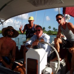 Prepared to transit the Panama Canal in my 41' sailboat
