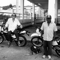 Riding motorcycles on Rodrigues Indian Ocean