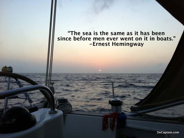 Ernest Hemingway, ocean, conservation quotes, ernest hemingway quotes,sailing quote, sailing pictures