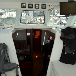 SV Marilyn Cockpit, 55' sloop, sailboat