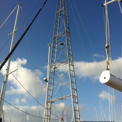stainless steel, tower, rig on sailboat,rigging,sailboat