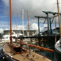 Wooden sailboat Auckland
