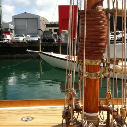 wooden mast sailboat