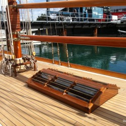 wooden sailboat Auckland boat show