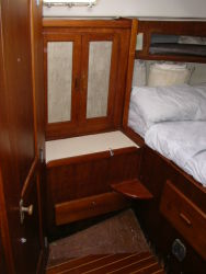 Starboard locker in the aft stateroom.