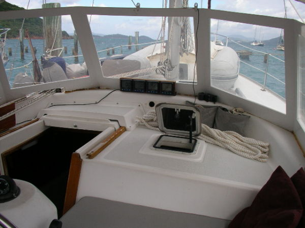 Cockpit of S/V Grace a 1982 Morgan Out Island Ketch