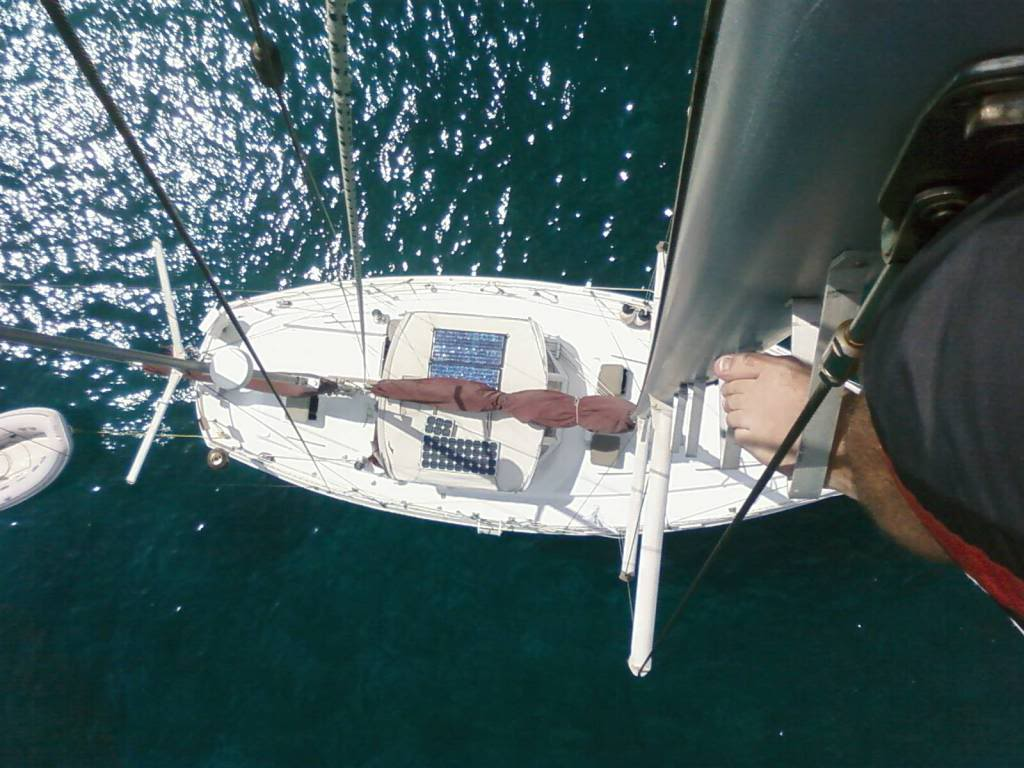 S/V Grace from the masthead